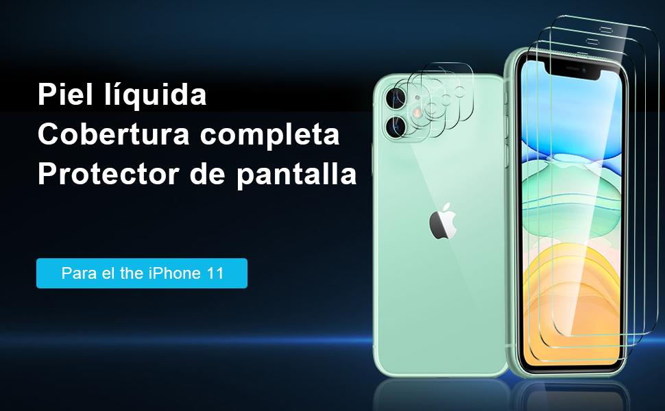 Lente Todo Incluido Antideslizante Funda para Compatible iPhone 11 Silicona (6.1) Protege la C/ámara 2Pack,Silicona Premium TPU Anti Polvo Tacto Suave