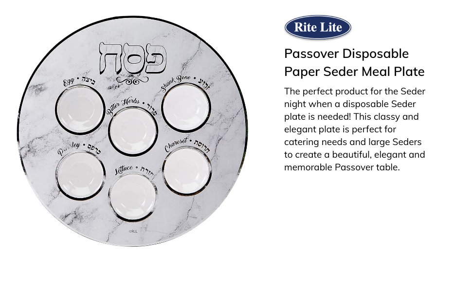 passover seder meal plate