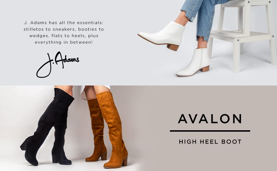 avalon, knee high boots, over the knee boots, boots, knee high, heels, jadams, shoes