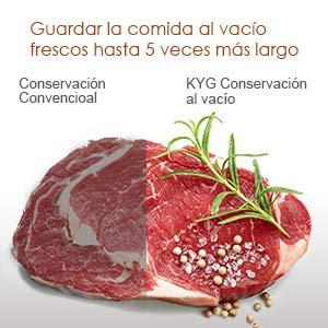 KYG Envasadora al Vacío de Alimentos 110W Sellador al Vacío ...