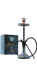 glass hookah set with everything