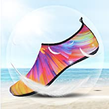 JIASUQI Summer Athletic Quick Dry Pool Swimming Water Shoes Socks for Women Men