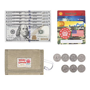 rough enough canvas kids wallet for boys girls keep paper notes credit cards coins money all in one