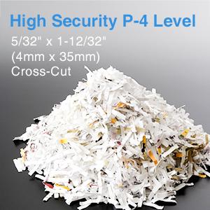 high security P-4 level paper shredder