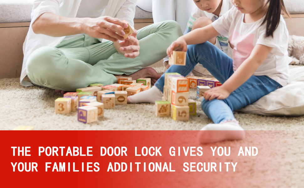 The portable door lock gives you and your families additional security