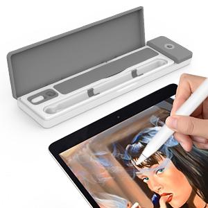 Astuccio con supporto per Apple Pencil con cavo USB e slot per tenere organizzato il cavo USB AWAVO