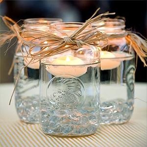 Floating Candle with Mason Jar