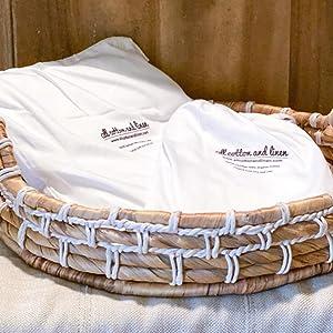 White Cotton Pillowcase