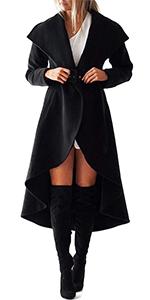 windbreake long coats for women