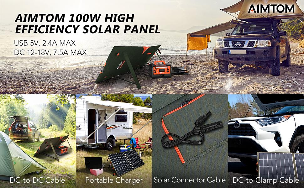 aimtom 100w solar panel