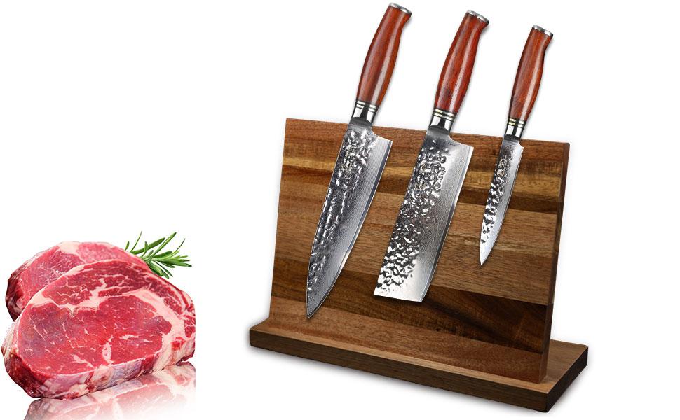 Compra YARENH Juego de Cuchillos de Cocina 3 Piezas - Set ...
