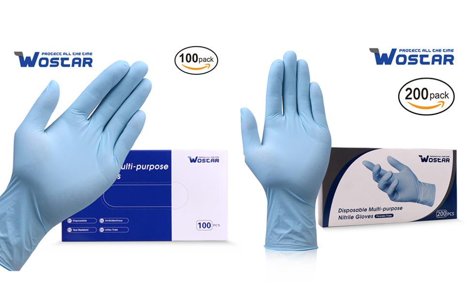 Latex-free Nitrile Examination Gloves Convenient Dispenser Package Protective for Hand//Glove ZHJQTIE 100 Pink Gloves Color : 100pcs, Size : S