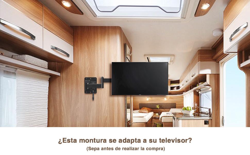 Mounting Dream Soporte de Pared TV Giratorio Inclinable Bloqueable para Caravana/Remolque/Barco