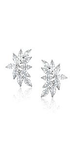 Cluster Bridal Earrings