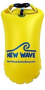 New Wave Swim Buoy 15L swim buoy open water swim buoy triathlon swim bouy swim buoy dry bag
