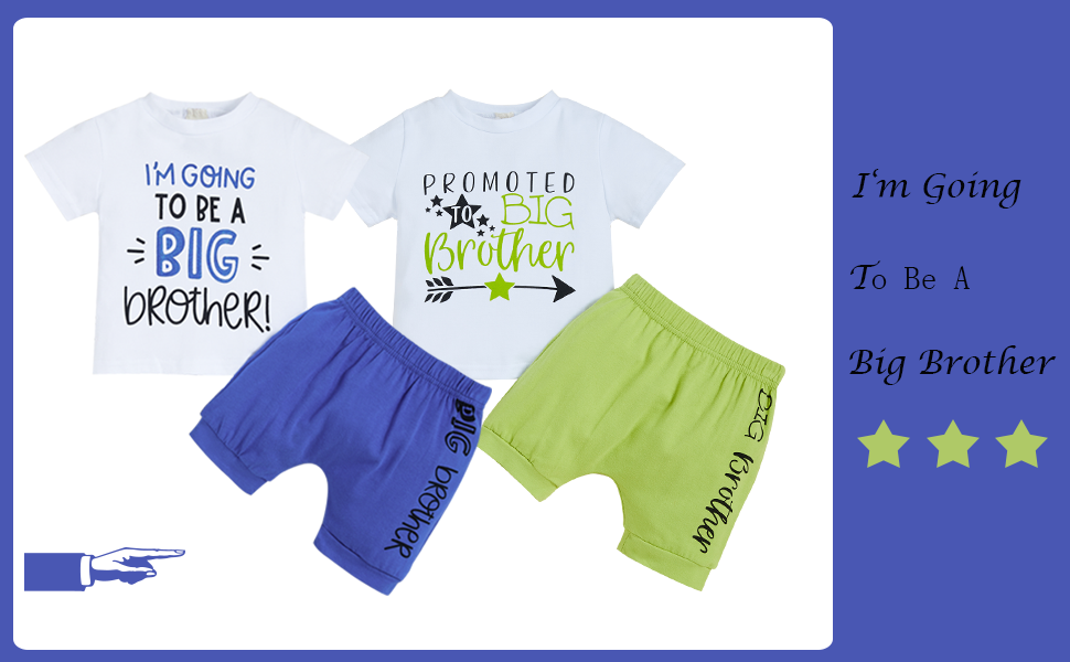 baby boy big brother shorts set
