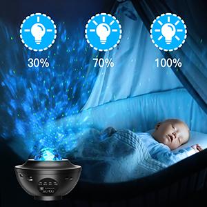 Projecteur Ciel Etoile Planetarium Projecteur LED Veilleuse Enfant Rotatif Starry Lampe Projecteur