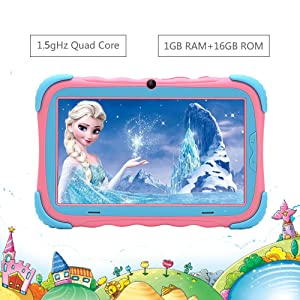 kid tablets - Kids Tablet, 7 Inch IPS Display, IWAWA Pre Installed, 2G/16GB WiFi Android Tablet, Dual Camera, Bluetooth, Kids-Proof Tablet For Kids