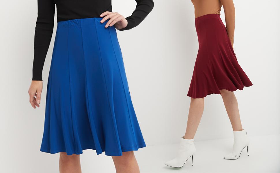 Flirty Flippy Flared Knit Skirt
