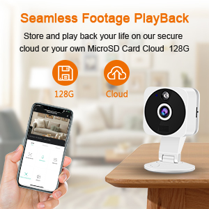 Security baby camera seamless Footage Playback