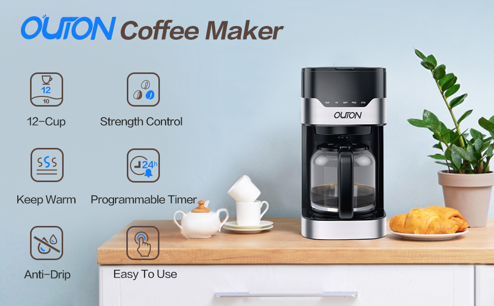 OUTON Coffee Maker 12 Cups