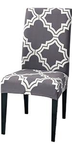 Gray Moroccan Chair Slipcovers