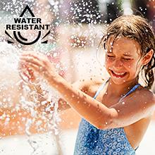 Waterproof in 99ft(30m), water resistant splash, all styles