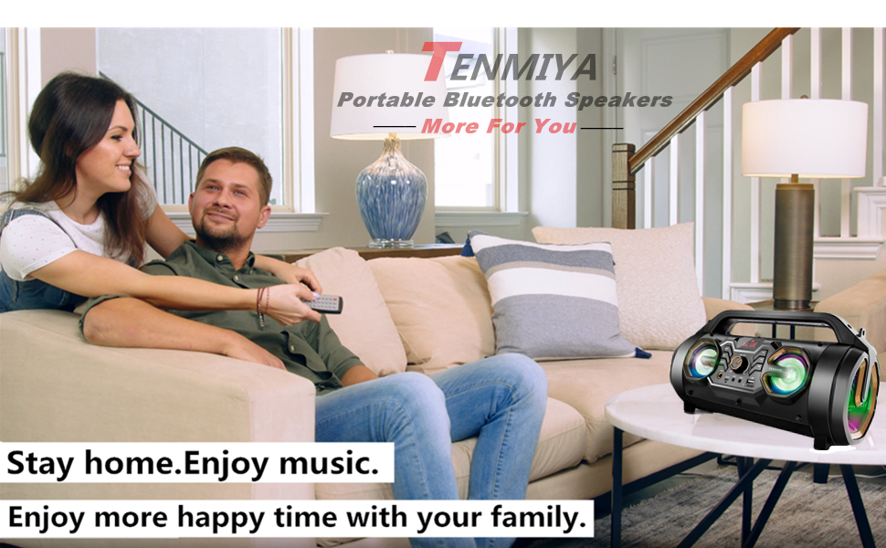karaoke PA system tenmiya portable bluetooth speakers wireless outdoor boombox with remote control