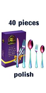 40-Piece Flatware Set