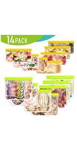 Reusable ziplock gallon freezer food storage lunch bags large sandwich snack zipper zip
