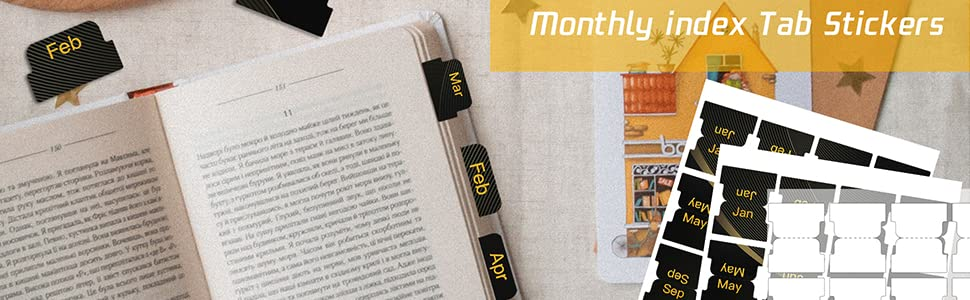 Self Adhesive Monthly Tabs-1