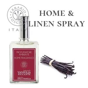 VPPR9.Erbario    Home Fragrance 100ml Spicy Vanilla Home & Linen Spray