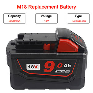18v 6.0ah replacement battery for Milwaukee m18 lithium-ion battery tools