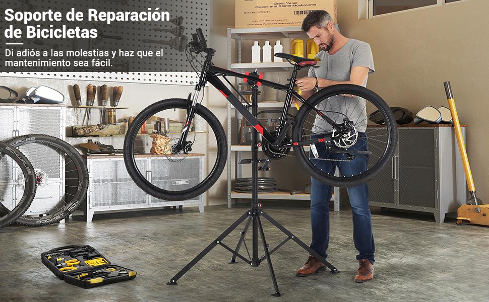 SONGMICS Soporte de Reparación de Bicicletas, Soporte de Trabajo ...