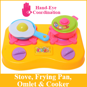 Hand Eye Coordination Stove Frying Pan Cooker Omlet