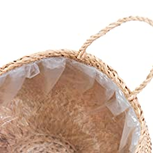 wicker plant baskets with plastic liner