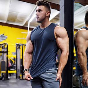 KODOO NO Pain NO Gain Muscle Workout T-Shirt Bodybuilding Tank Top Sport Blouse Fitness Jogging D/ébardeur de Fitness Maillot Coton