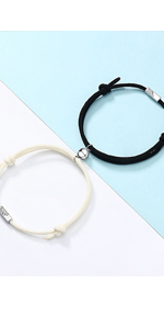 Magnetic Couples Bracelets Mutual Attraction Relationship Matching Friendship Rope Bracelet
