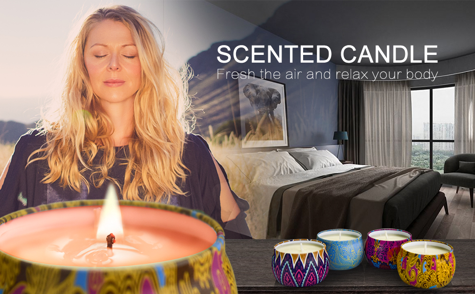 Scented candles set