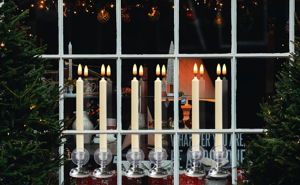 Christmas LED Flickering Window Candles
