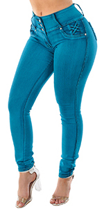 Mid Rise Butt Lifting Levanta Cola Skinny Jeans