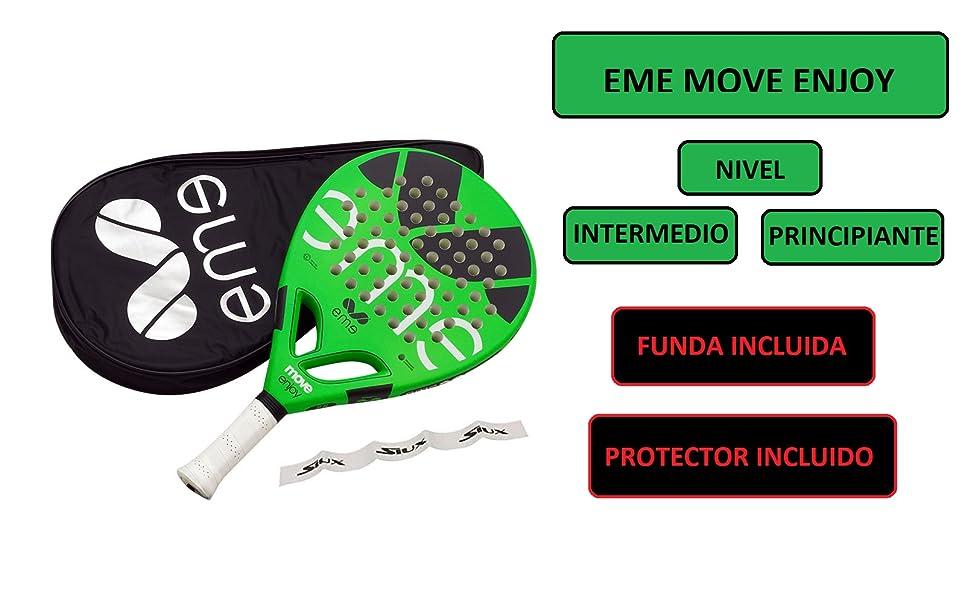 pala padel pádel palas raqueta raquetas funda accesorios verde eme protector transparente baratas
