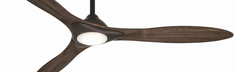 """Minka-Aire, 60"""", Sleek,  F868L-ORB, Oil Rubbed Bronze, Ceiling Fan, Bond, Smart Fan, LED"""