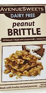 avenue sweets peanut brittle dairy free vegan peanut brittle candy vegan candy plant based candy