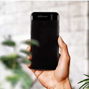 Portronics Power PRO 10K 10000mAh Power Bank with Dual Output Emergency Mobile Charger(Black)