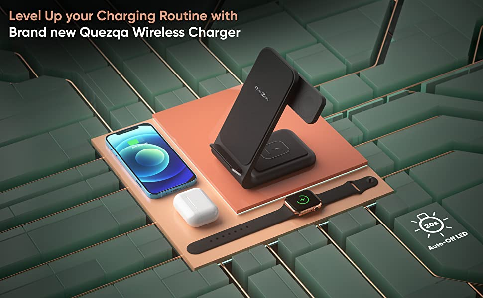 3 in 1 wireless charging station for apple products wireless charging stand