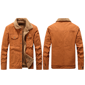 Vcansion Men's Classic Cotton Fleece Lined Windproof Jacket Coat Military Style Outerwear