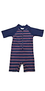 Baby boy sunsuit stripe pink cute swim cap