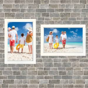 8x12 inch picture frame 2pack  2-pack wood 8 by 12 wooden wall hanging hang