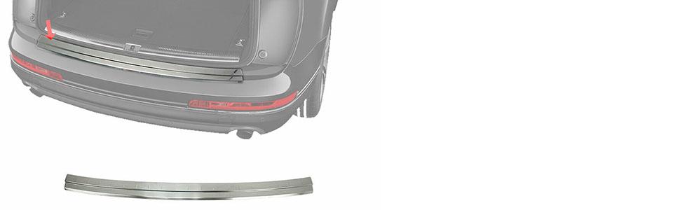 Rear Bumper Protector Guard Trim Cover Chrome Sill For Audi Q7 2016